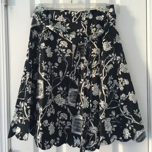 Talbots feathered friends skirt